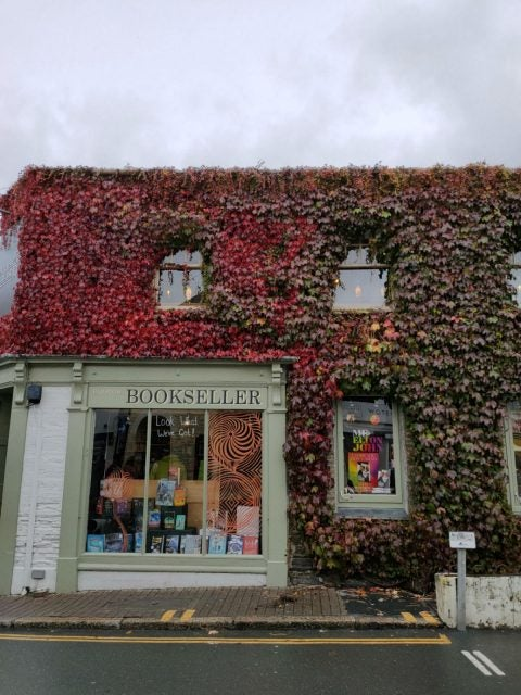 photo of ivy covered bookshop
