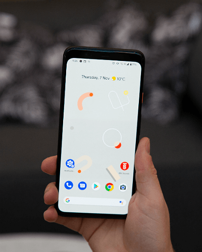 google pixel 4 xl screen