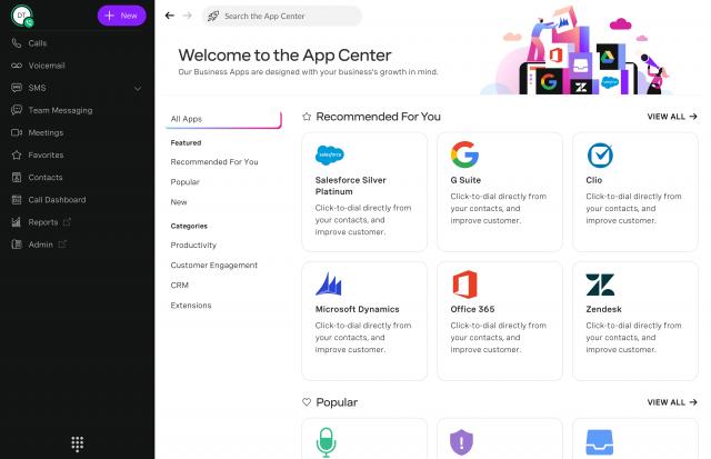Vonage App Center