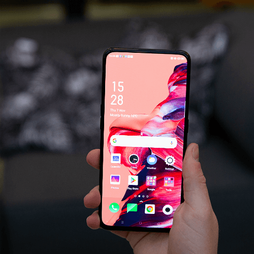 screen of the Oppo reno 2 phone