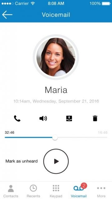ooma mobile app voicemail