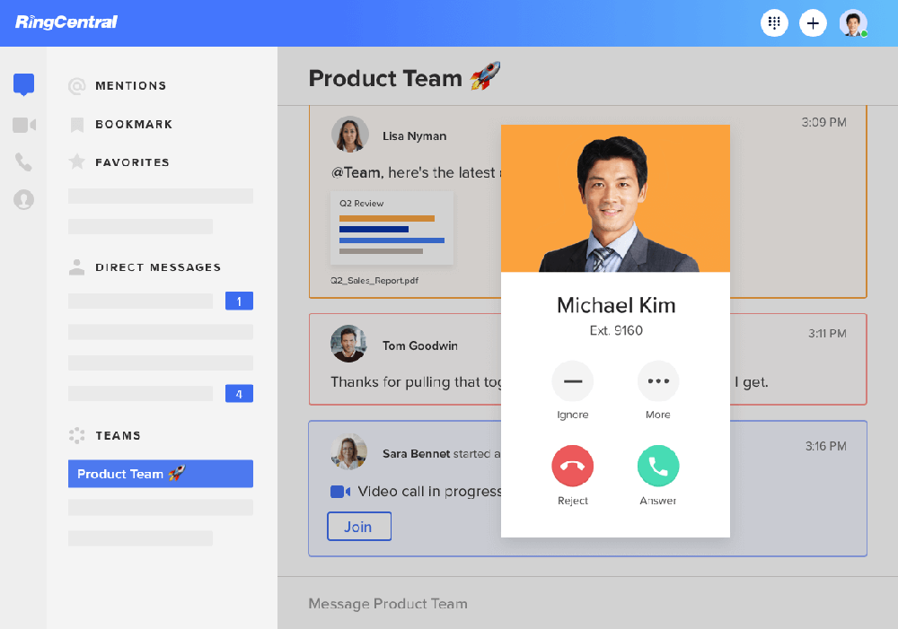 ringcentral interface