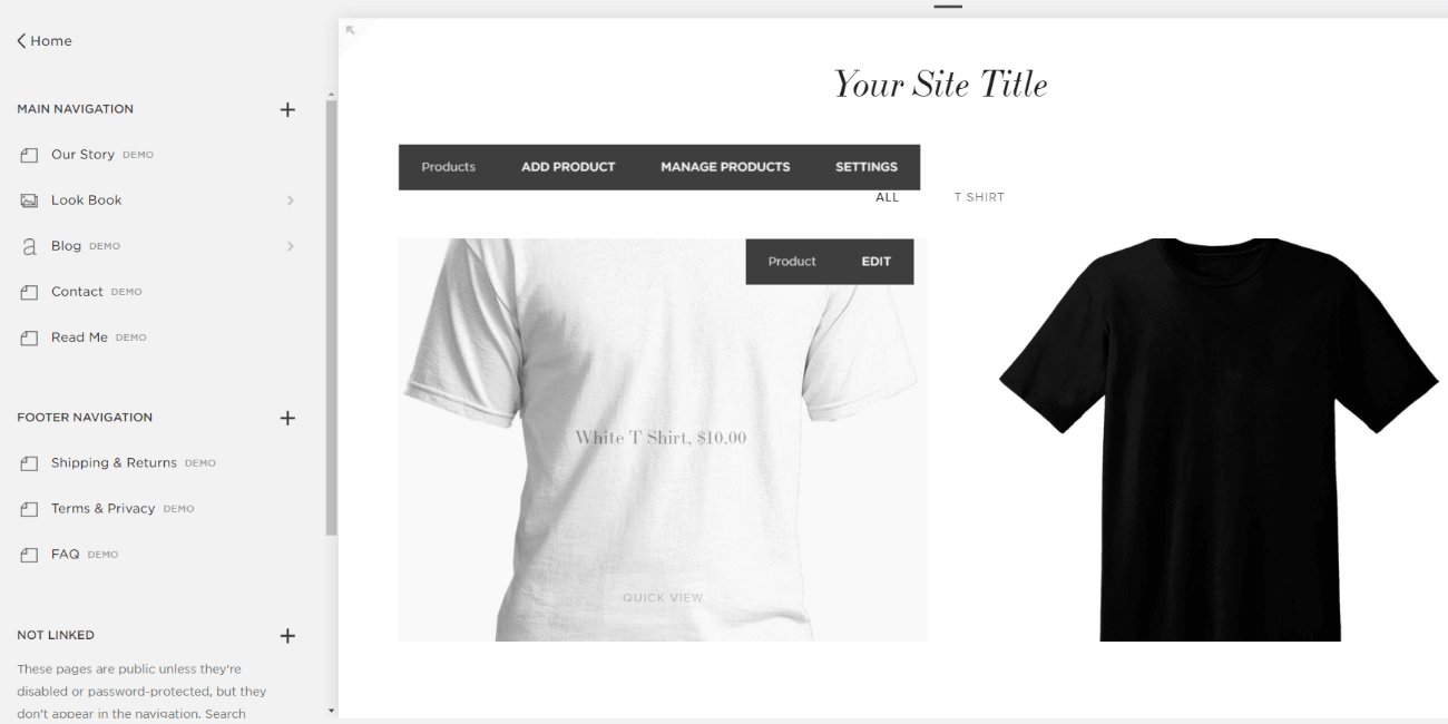 squarespace online store product page