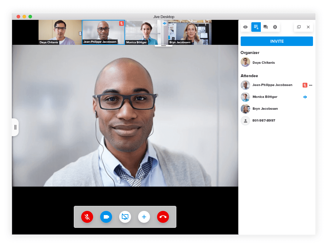 GoToConnect video call on desktop