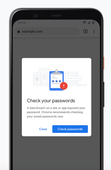 Google Chrome Password Popup