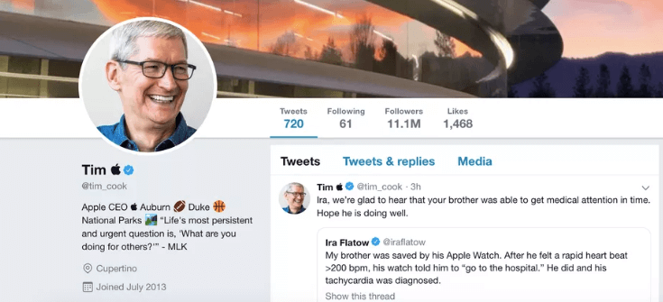 Tim Cook Apple Twitter