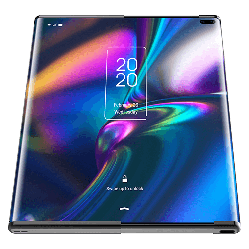 tcl rollable phone front