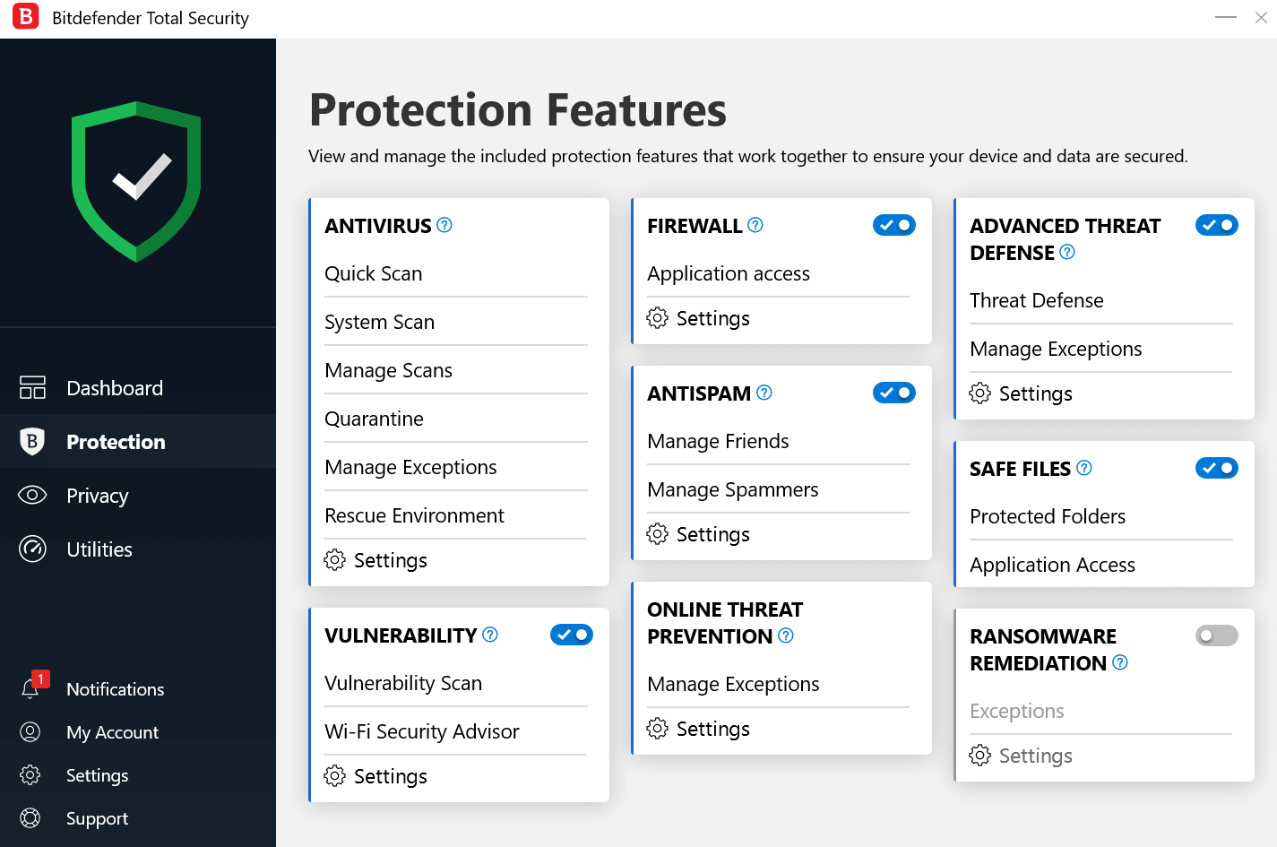 bitdefender antivirus protection features