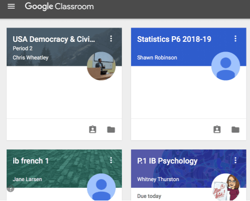 Video Chat Google Classroom