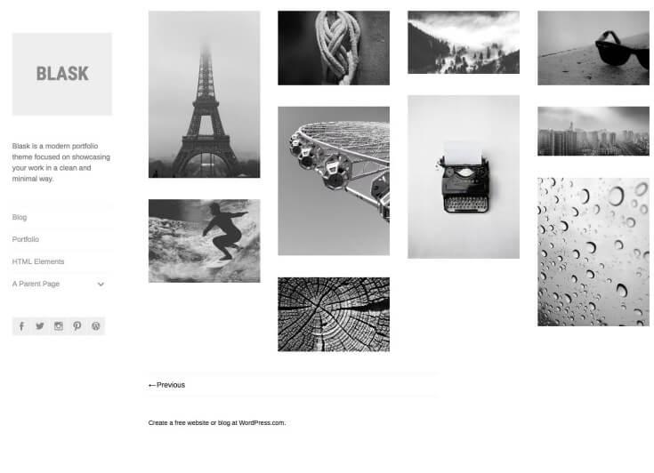 wordpress blask theme
