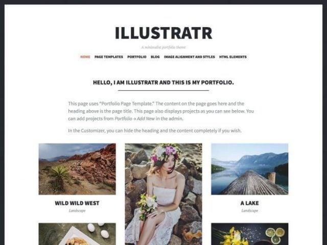 wordpress illustratr theme
