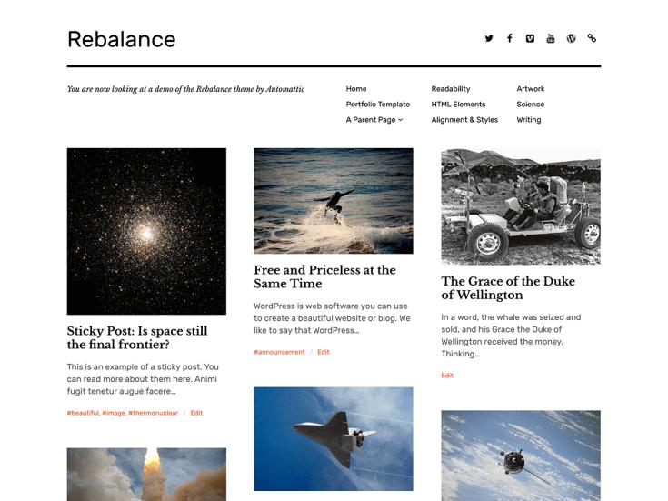 wordpress rebalance theme