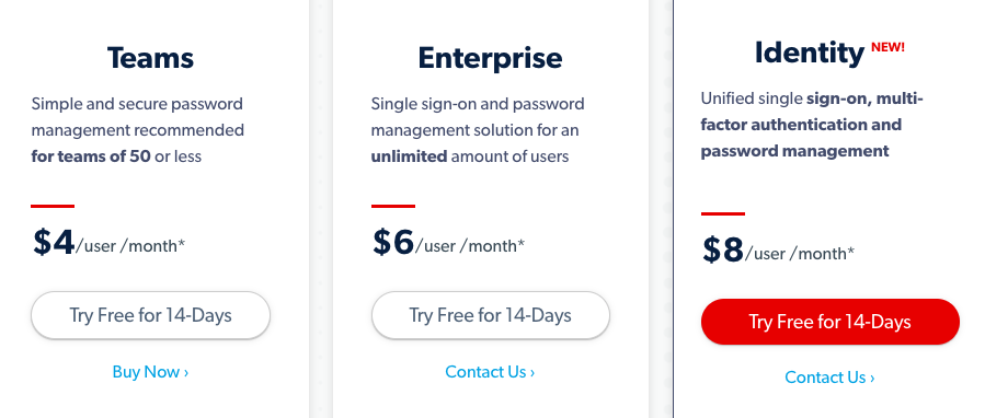 LastPass Business Pricing