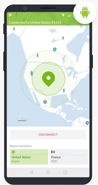 NordVPN Android app