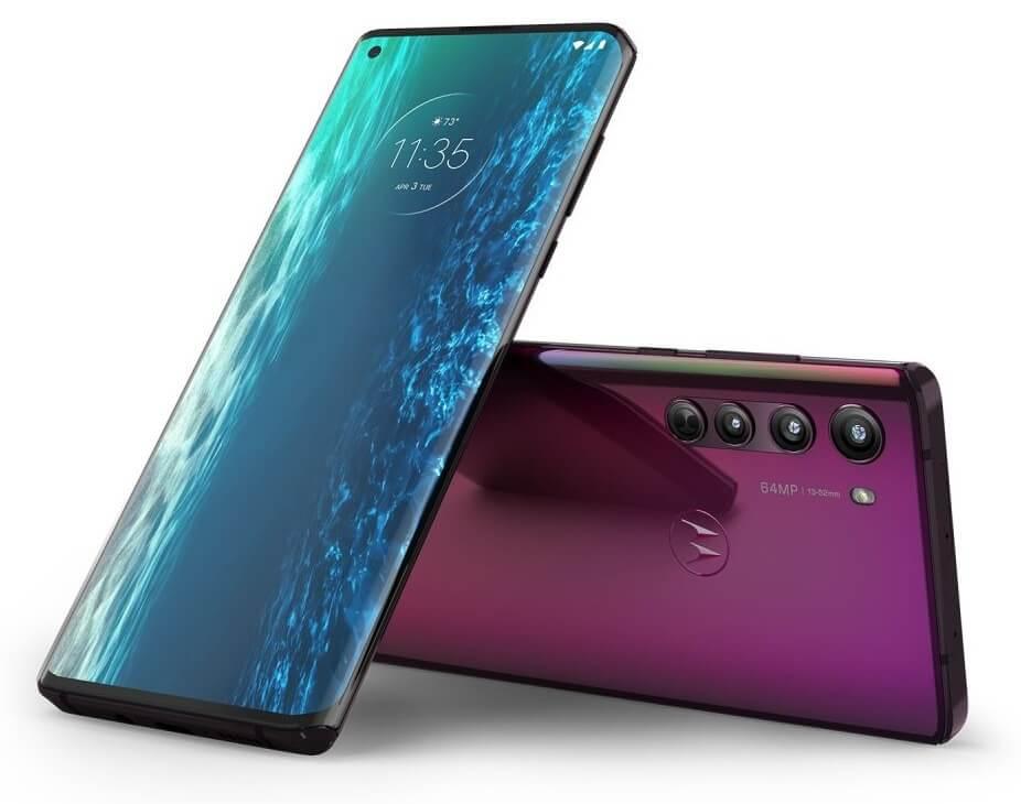 Motorola Edge: front and back