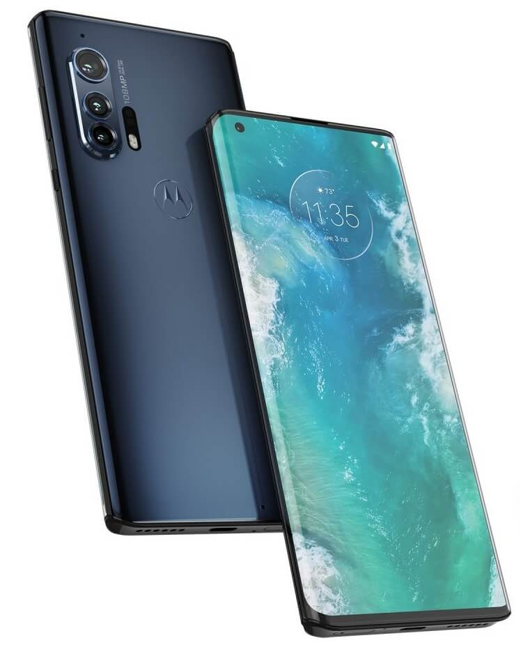 Motorola Edge Plus: front and back