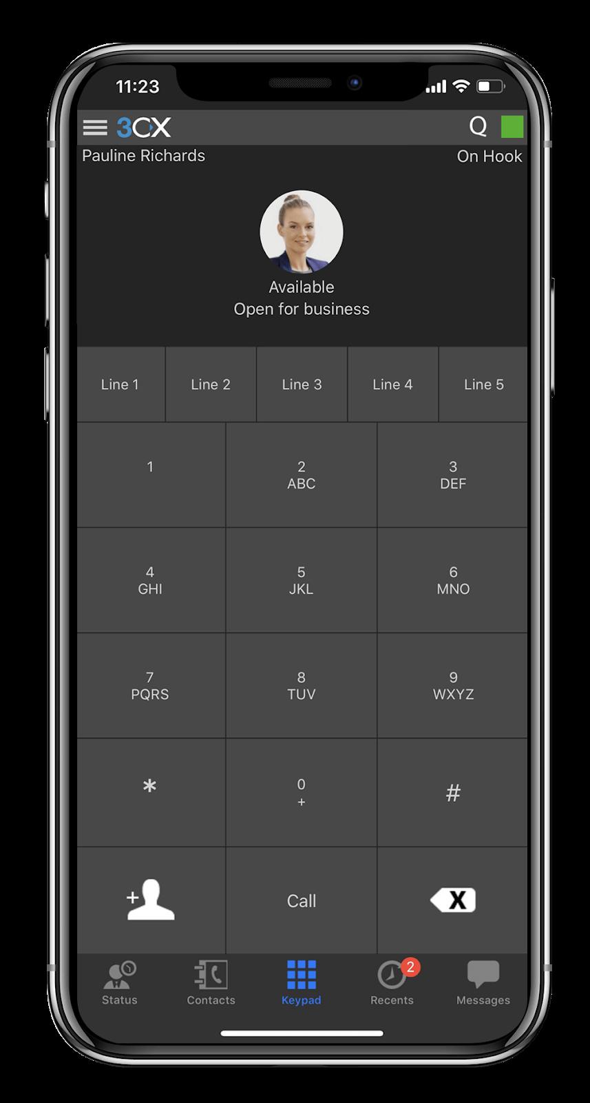 3CX phone system: iPhone app