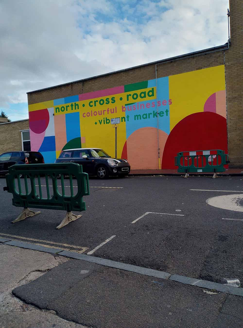 colorful roadside mural