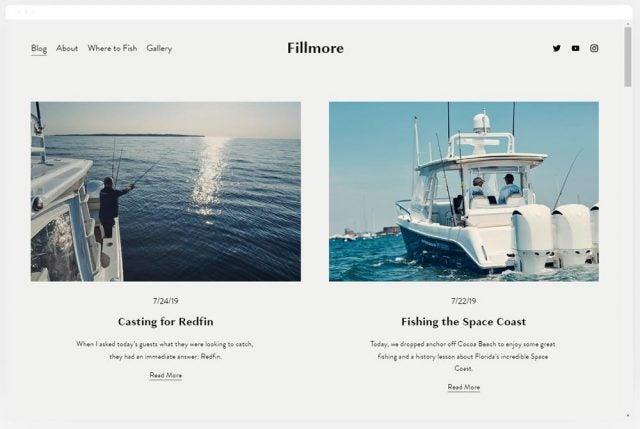 Squarespace Fillmore Blog