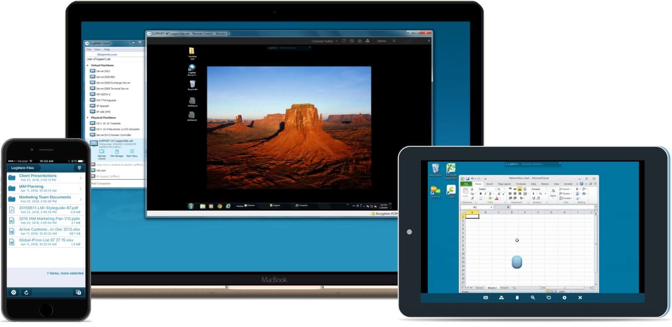 LogMeIn Pro desktop and mobile