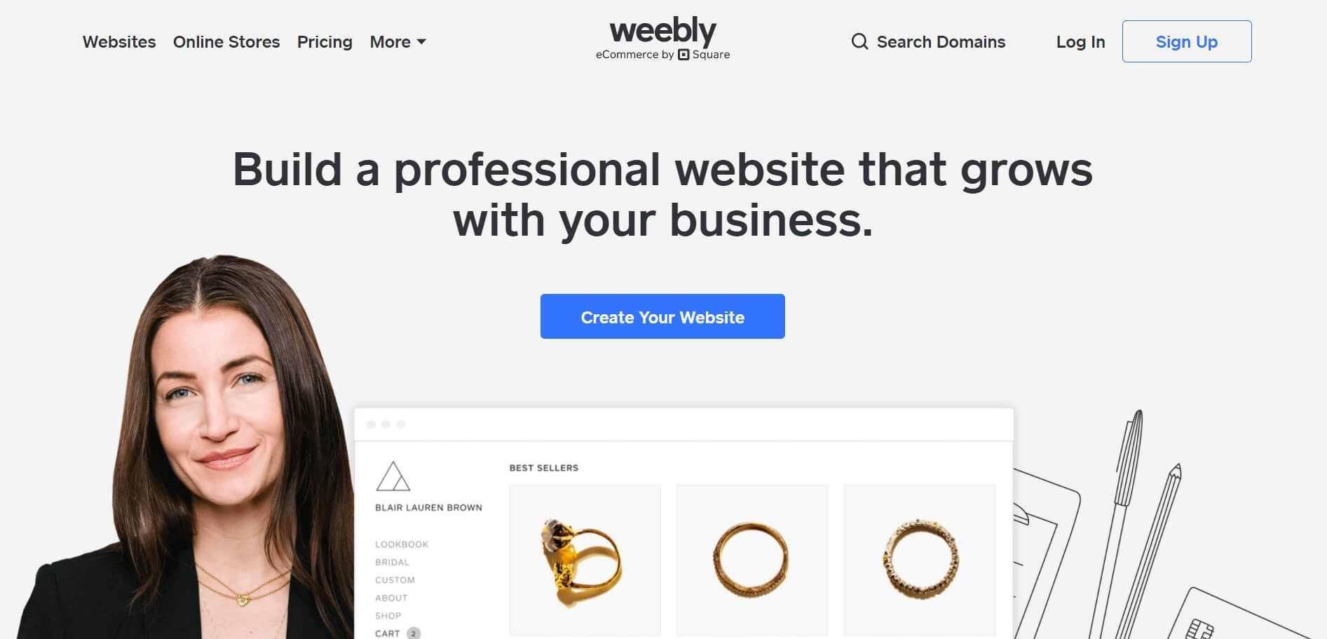 Weebly build website