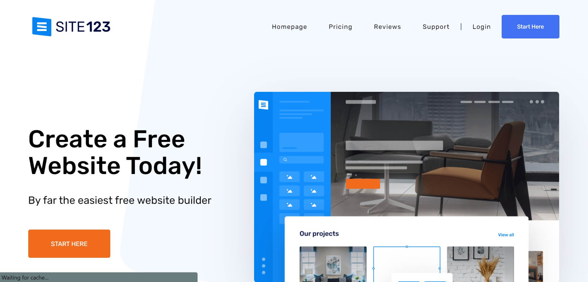 Site123 website builder example