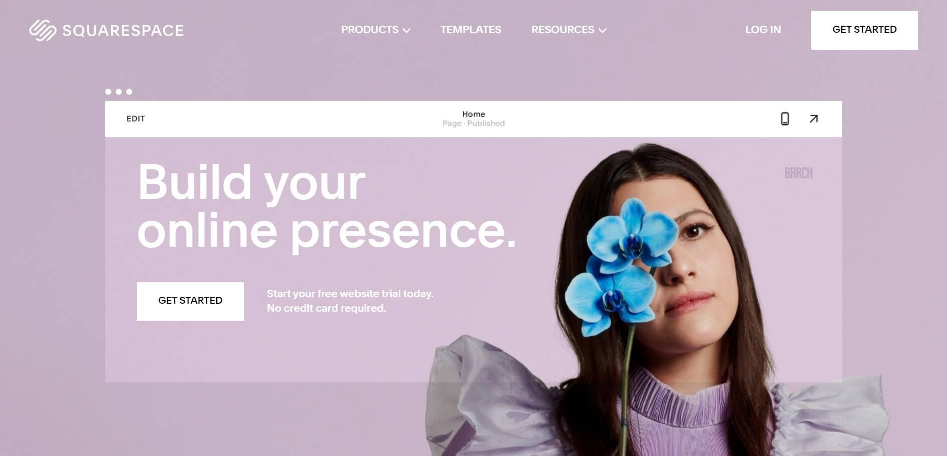 SquareSpace websites example