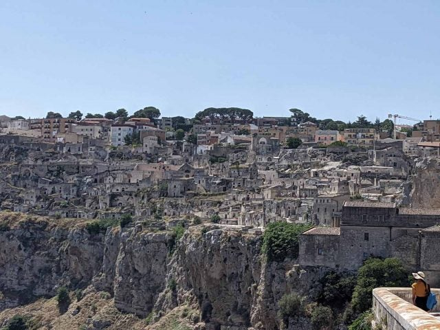high zoom photo of matera houses