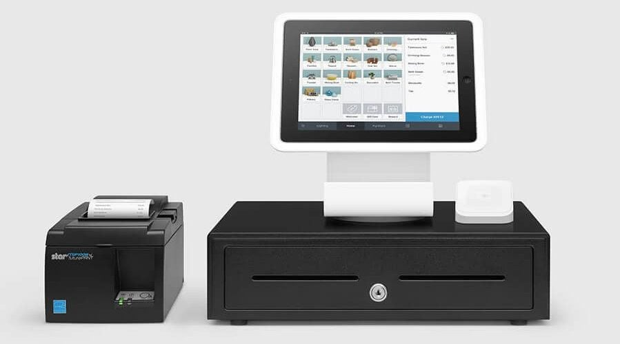 Square POS register stand for iPad