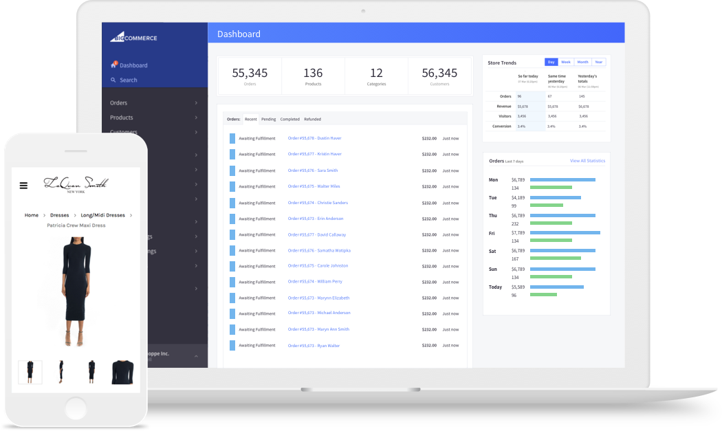 BigCommerce Dashboard