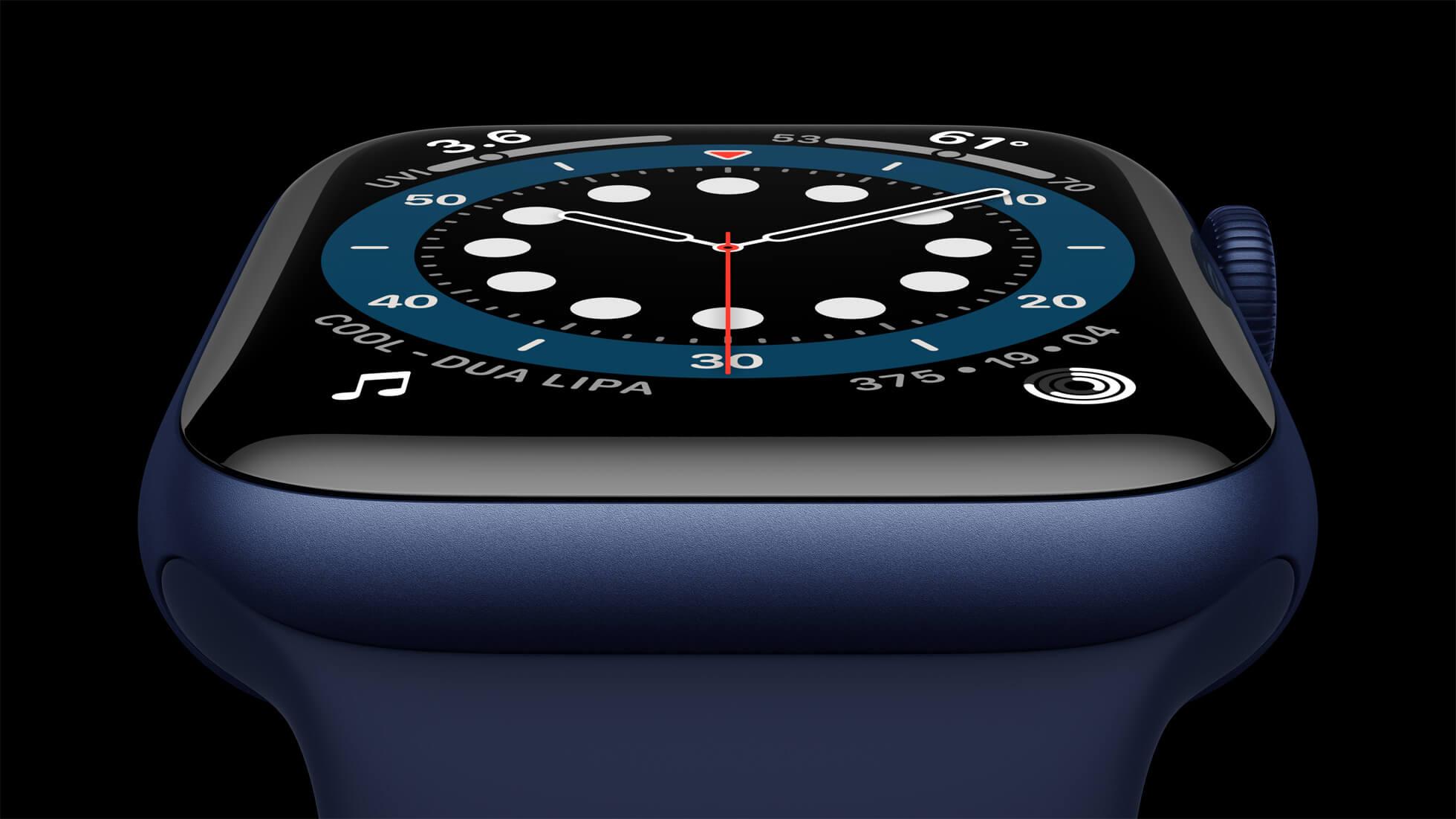 Apple watch series 6 Aluminum blue case