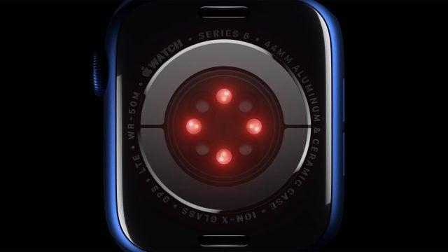 Apple watch 6 blood oxygen sensor
