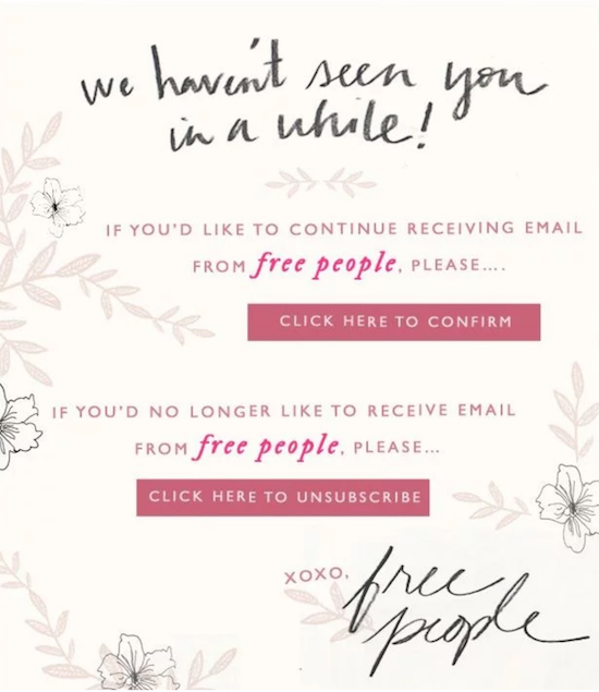 Free People Unsubscribe