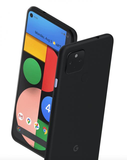 Pixel 4a 5G front back