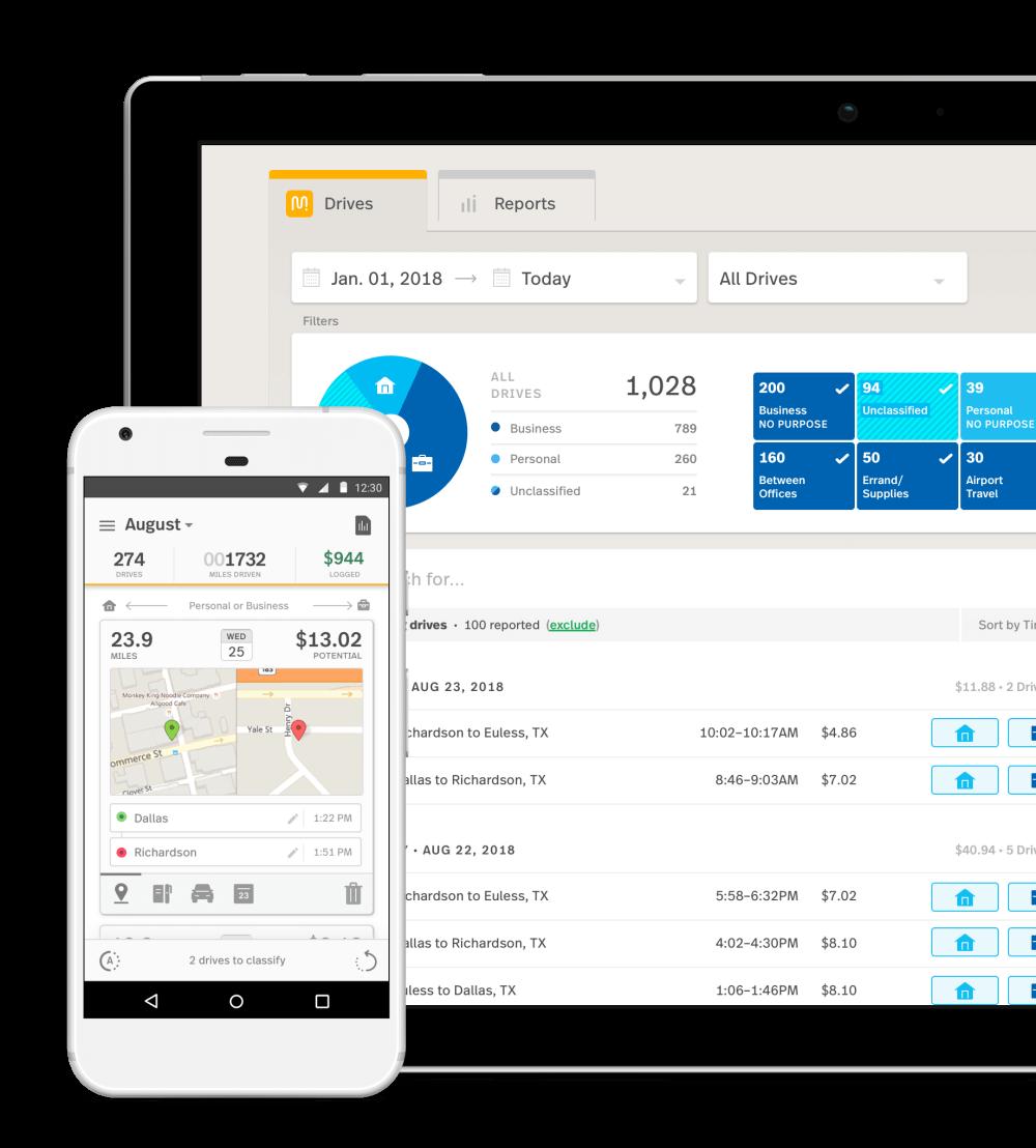 Xero mileage tracking mobile app