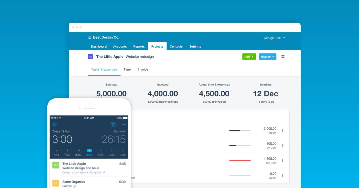 Xero: estimates and invoices