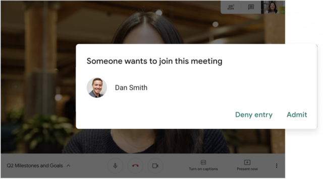 Google Meet Permissions