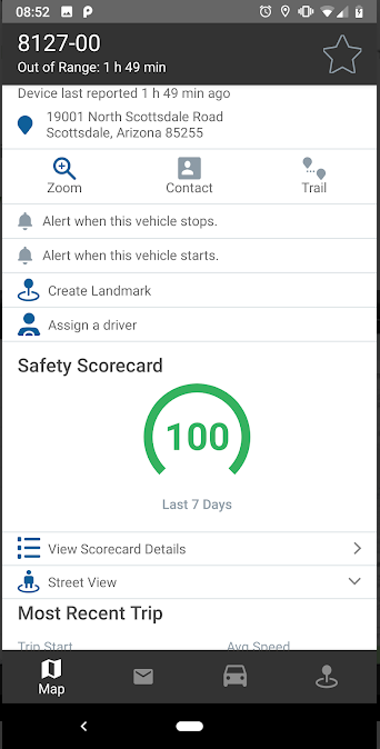 gps insight app safety score