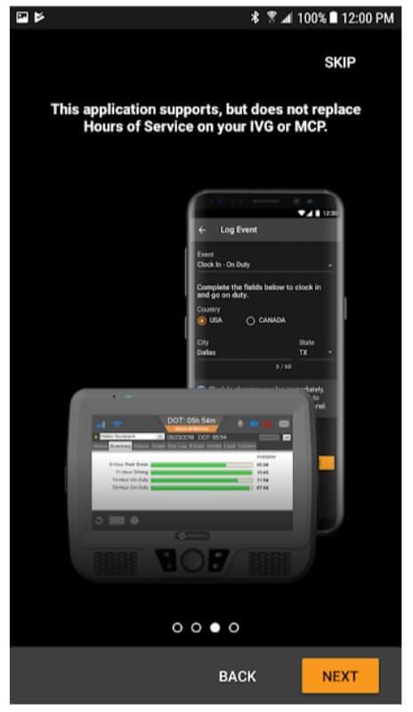 HoursGo mobile app: status