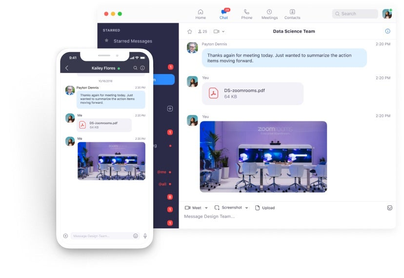 Zoom Meetings - Zoom Chat on Desktop and Mobile