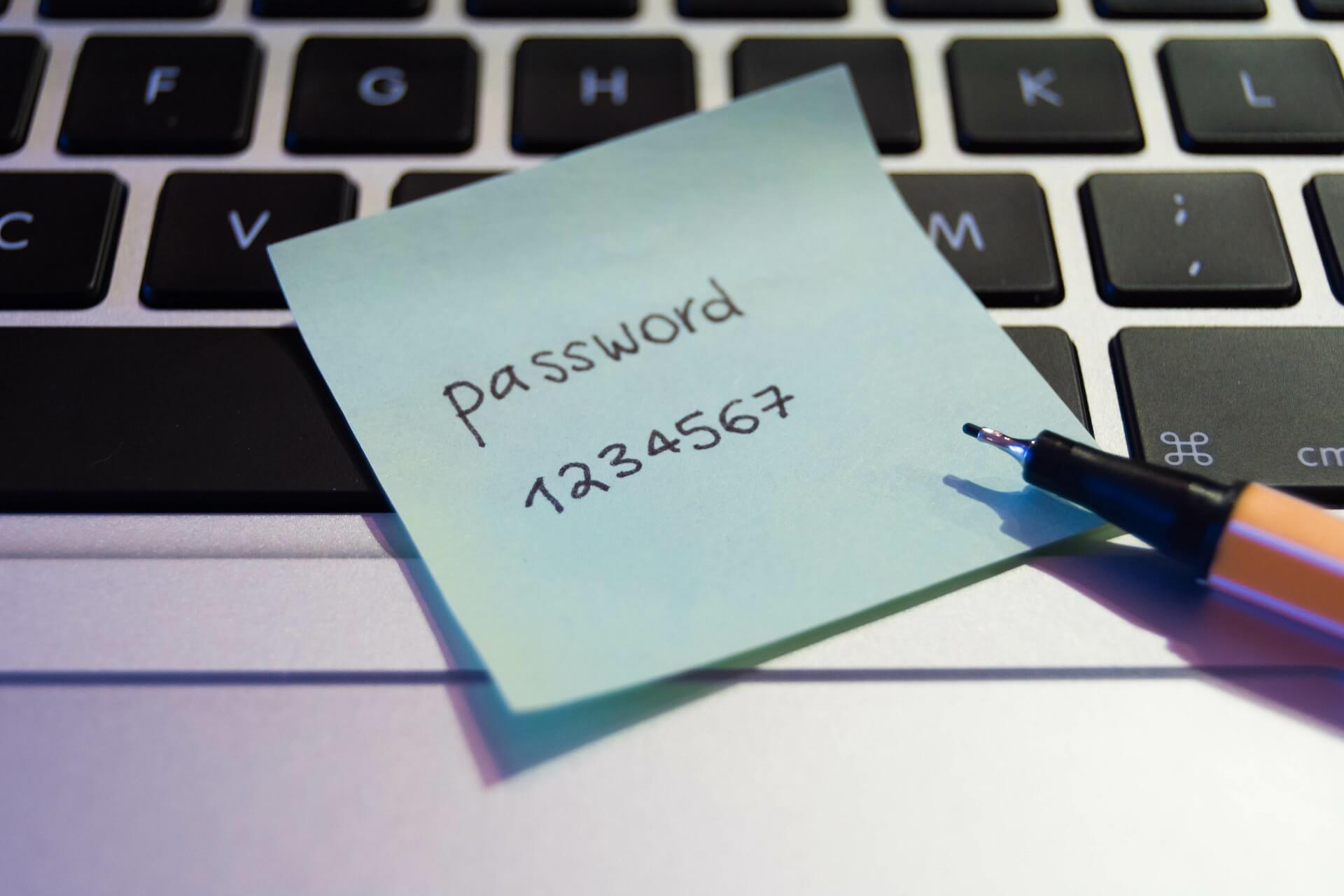 example of weak password