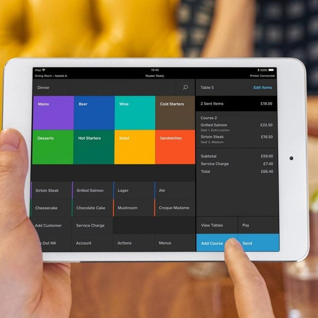 square restaurants interface