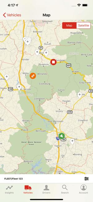 Spotlight app: Map