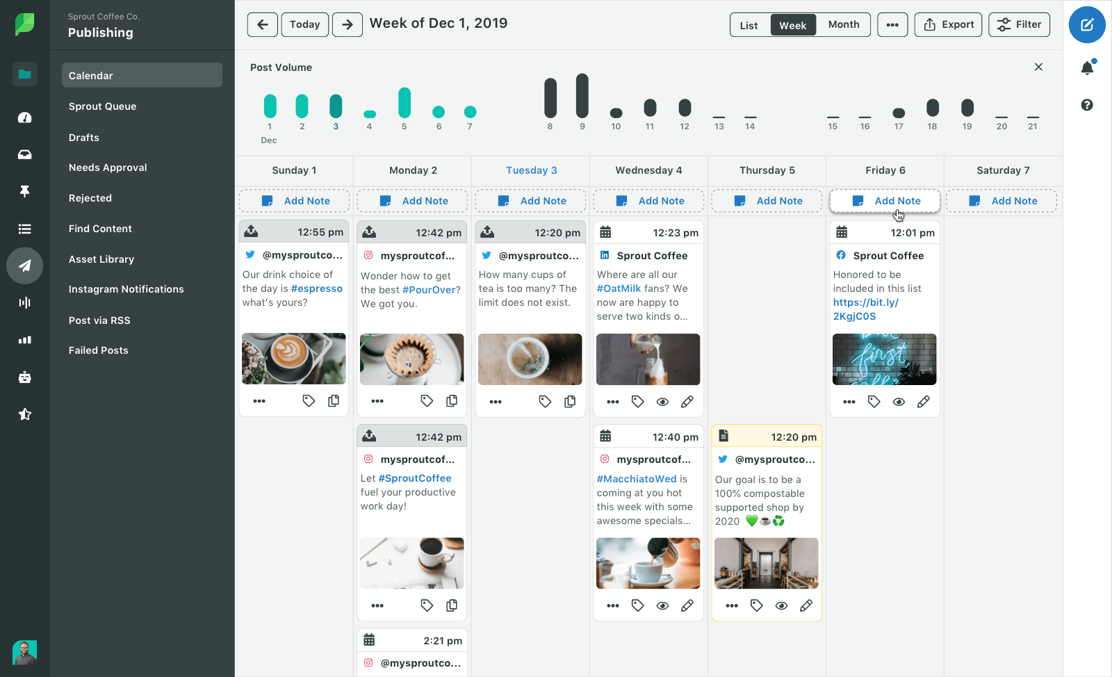 Sprout Social Home