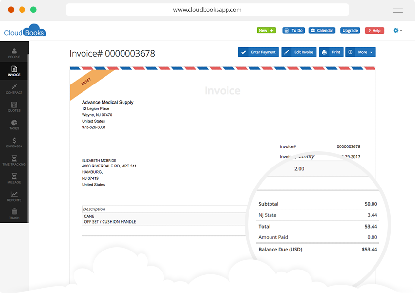 CloudBooks Interface