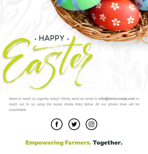Mailerlite Tempate Easter