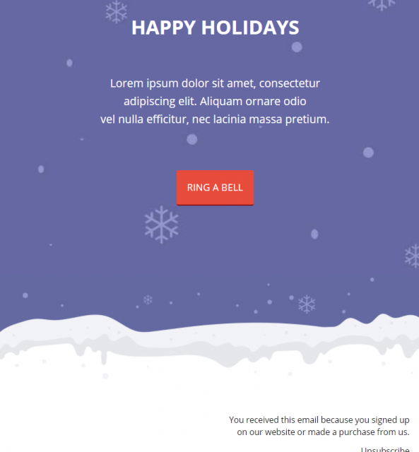 Mailerlite Template Holiday