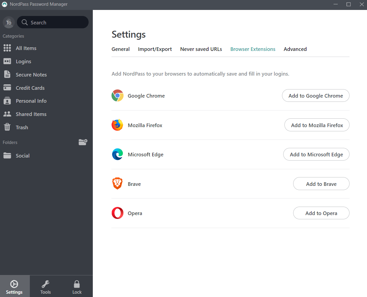 nordpass browser extensions