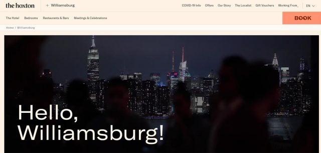hoxton williamsburg website