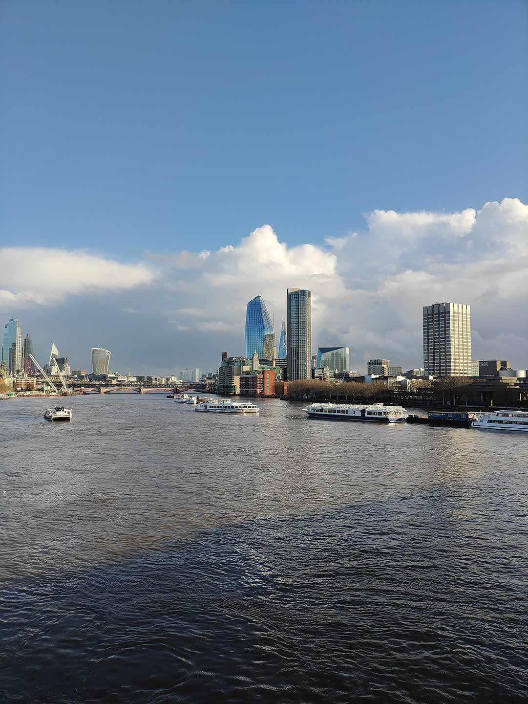 bankside from the river thames